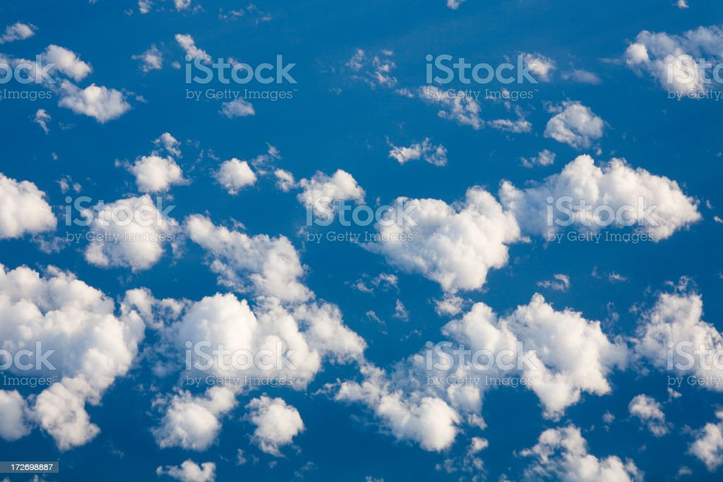 Clouds over the ocean stock photo