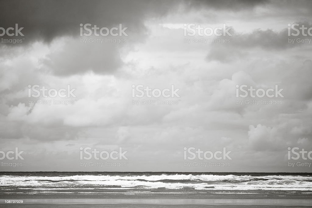 Clouds Over the Pacific Ocean royalty-free stock photo