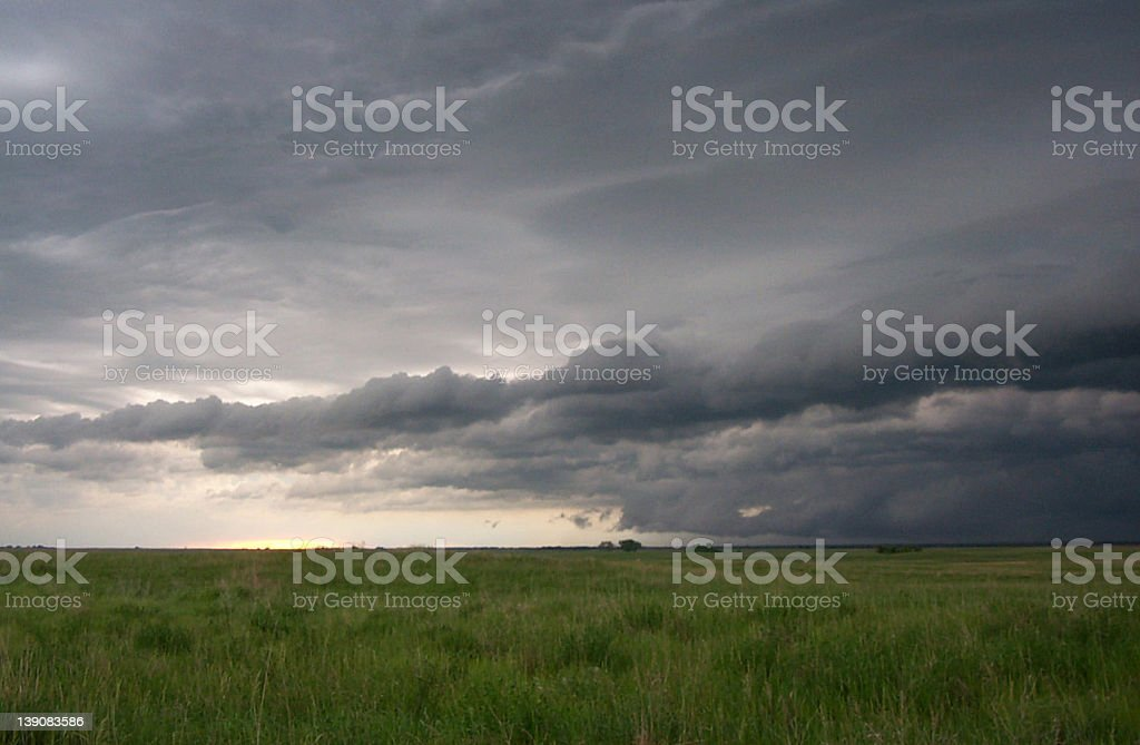 Clouds over the Plains royalty-free stock photo