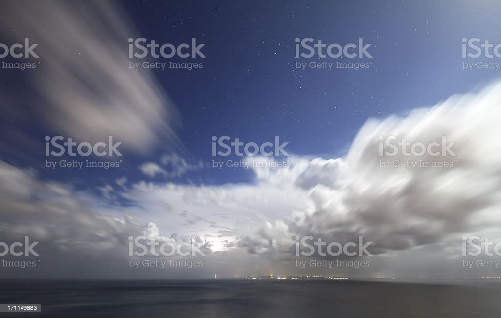 Clouds over the sea royalty-free stock photo
