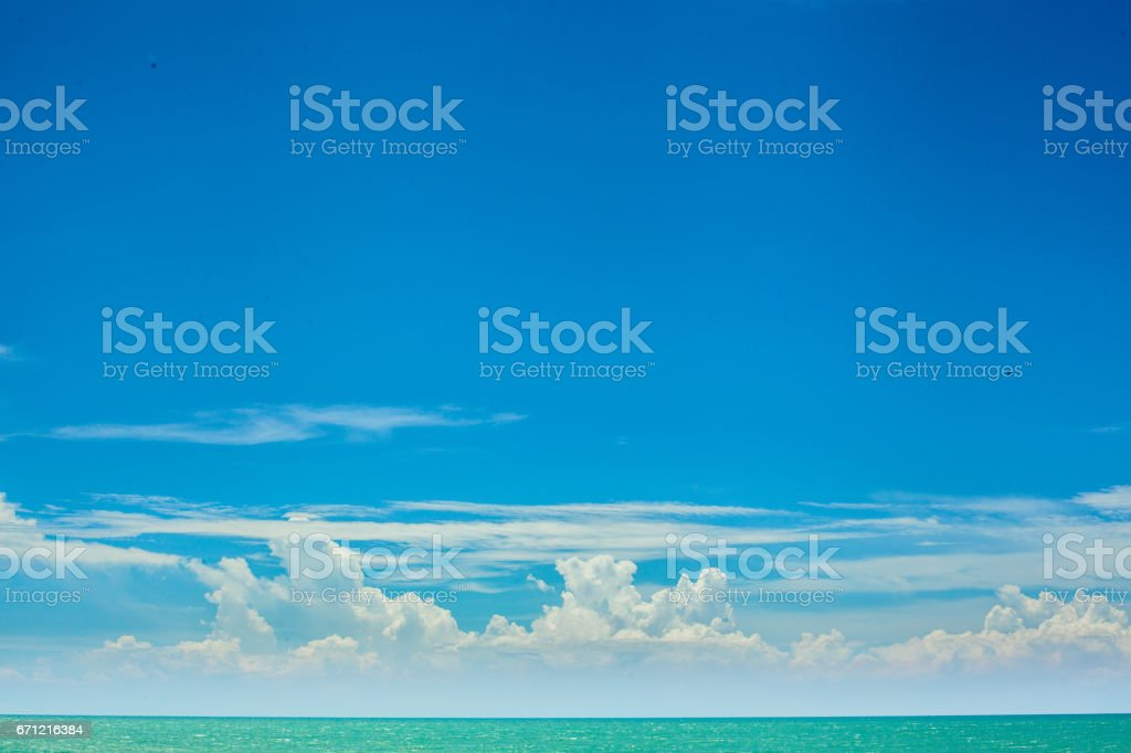 Clouds over the sea stock photo