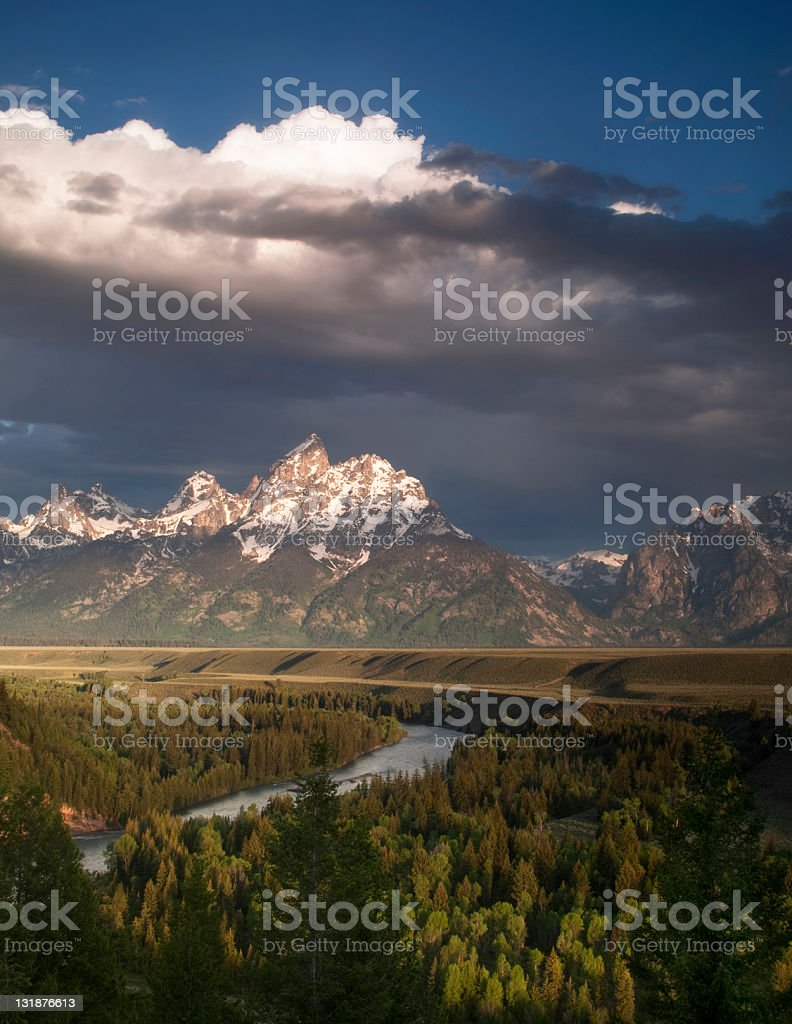 Clouds over the Tetons royalty-free stock photo