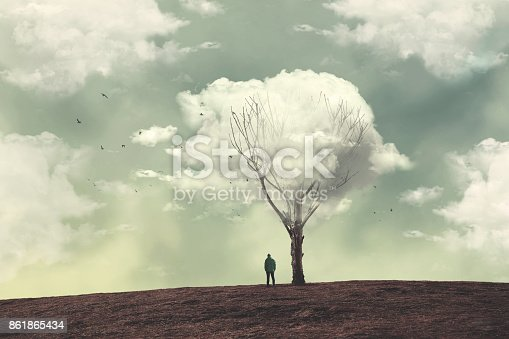 istock clouds over the tree 861865434
