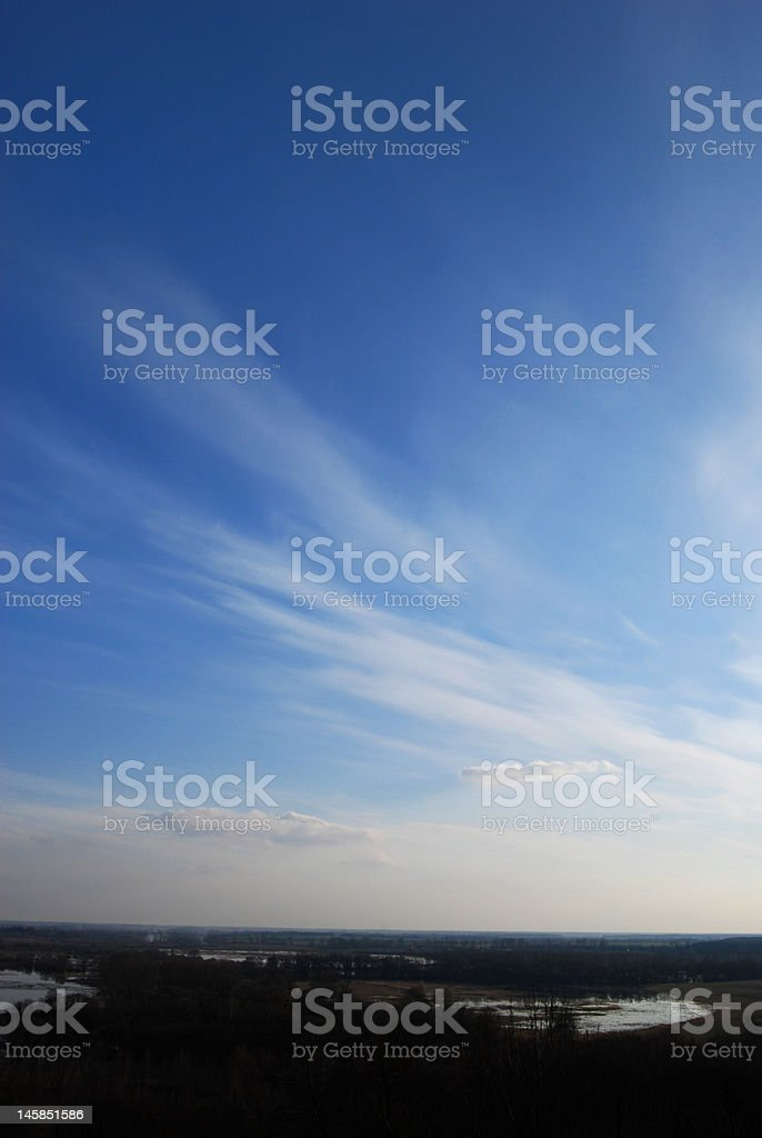 Clouds Over The Valley royalty-free stock photo