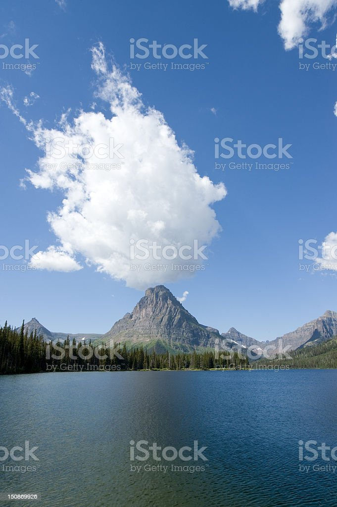 Clouds over Two Medicine royalty-free stock photo