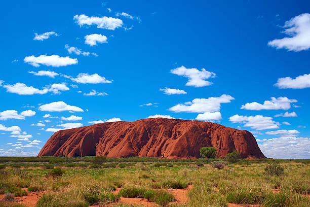 Clouds Over Uluru stock photo