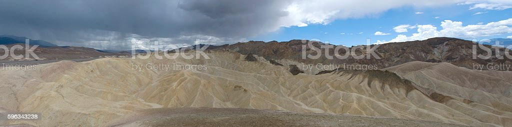 Clouds over Zabriskie Point in Death Valley, California royalty-free stock photo