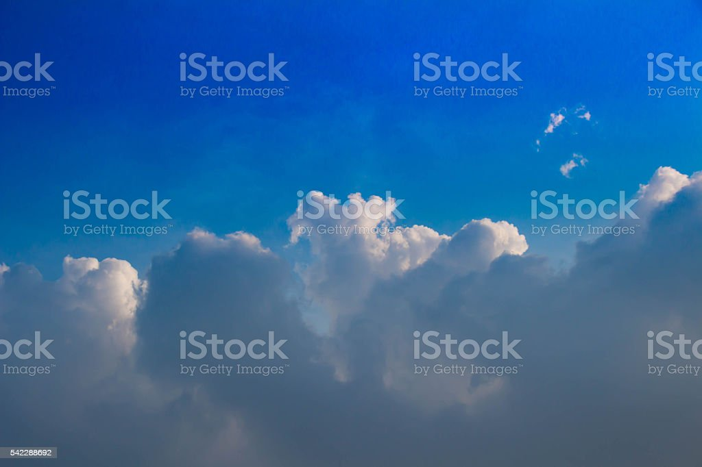 Clouds raged and blue sky stock photo
