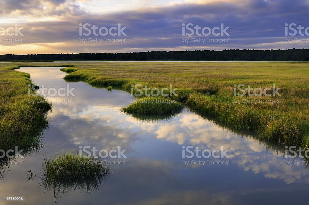 Clouds Reflecting in Water stock photo