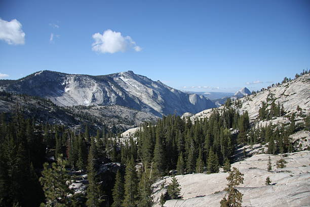 Clouds Rest from Olmsted Point in Yosemite stock photo