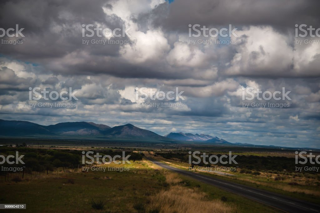 Clouds Sky and Road stock photo