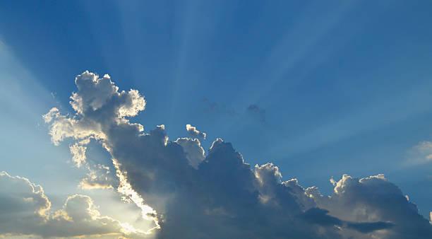 Clouds Sun Rays stock photo