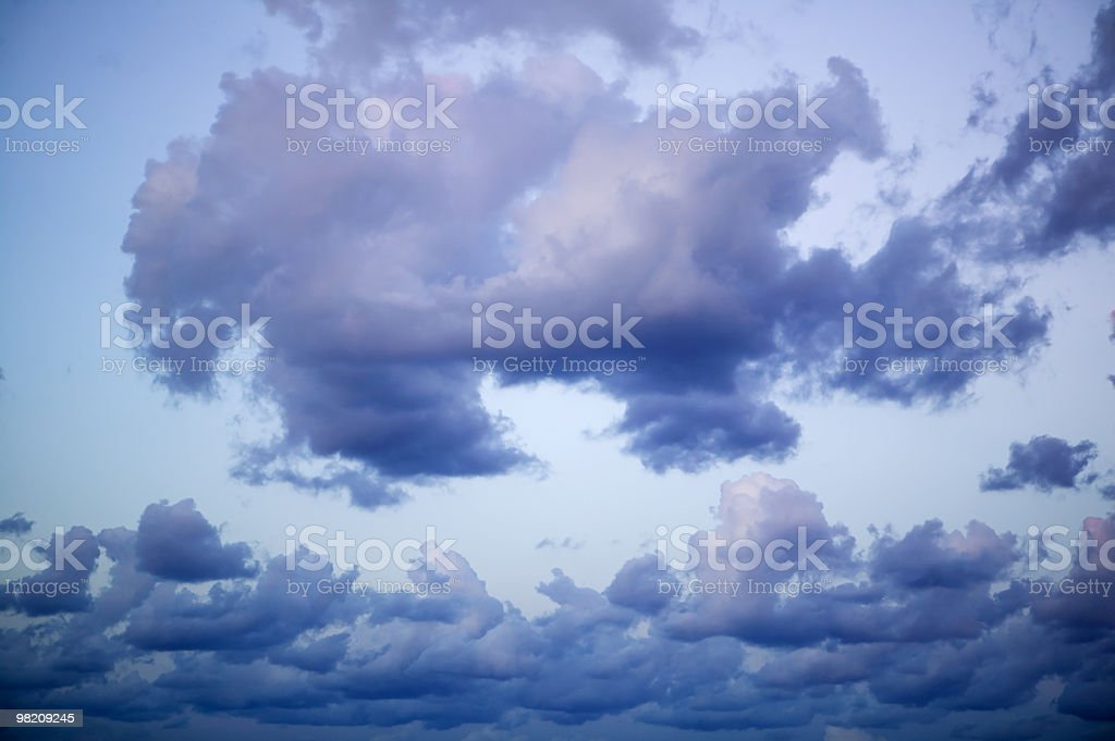 clouds to the sunset royalty-free stock photo