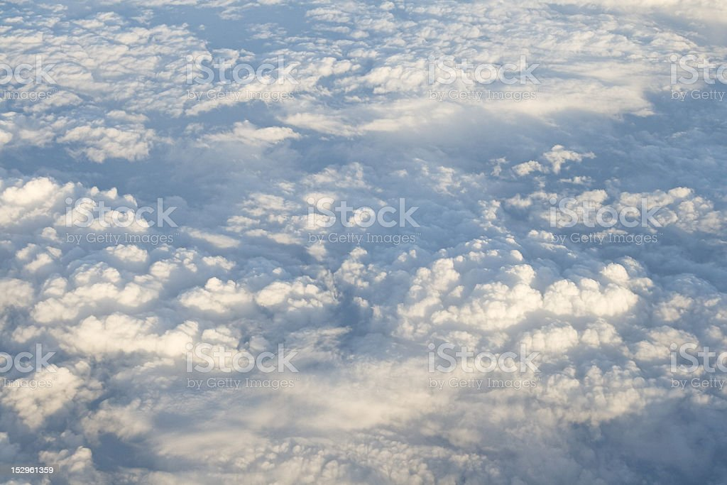 Clouds, view from airplane royalty-free stock photo