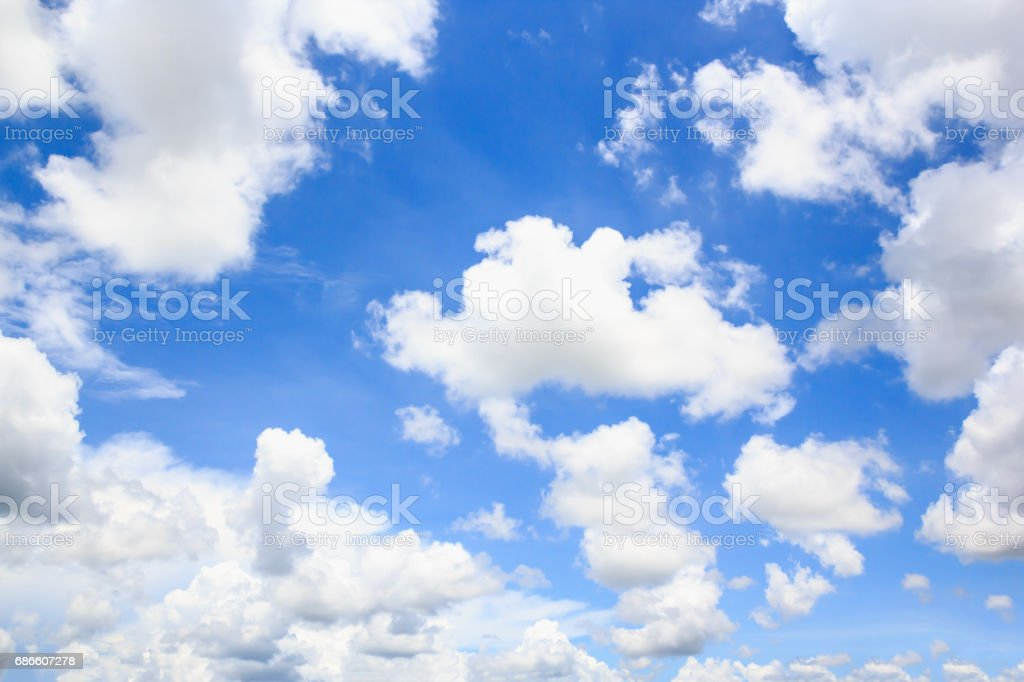 Clouds with blue sky background. royalty-free stock photo