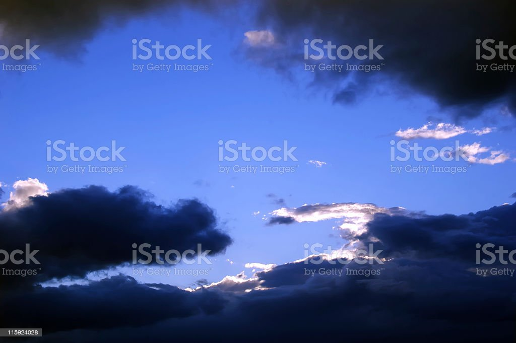Clouds with Silver Lining royalty-free stock photo