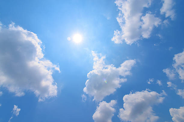 clouds with Sun clouds with Sun directly below stock pictures, royalty-free photos & images