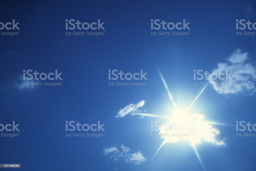 Clouds with sunbeam royalty-free stock photo