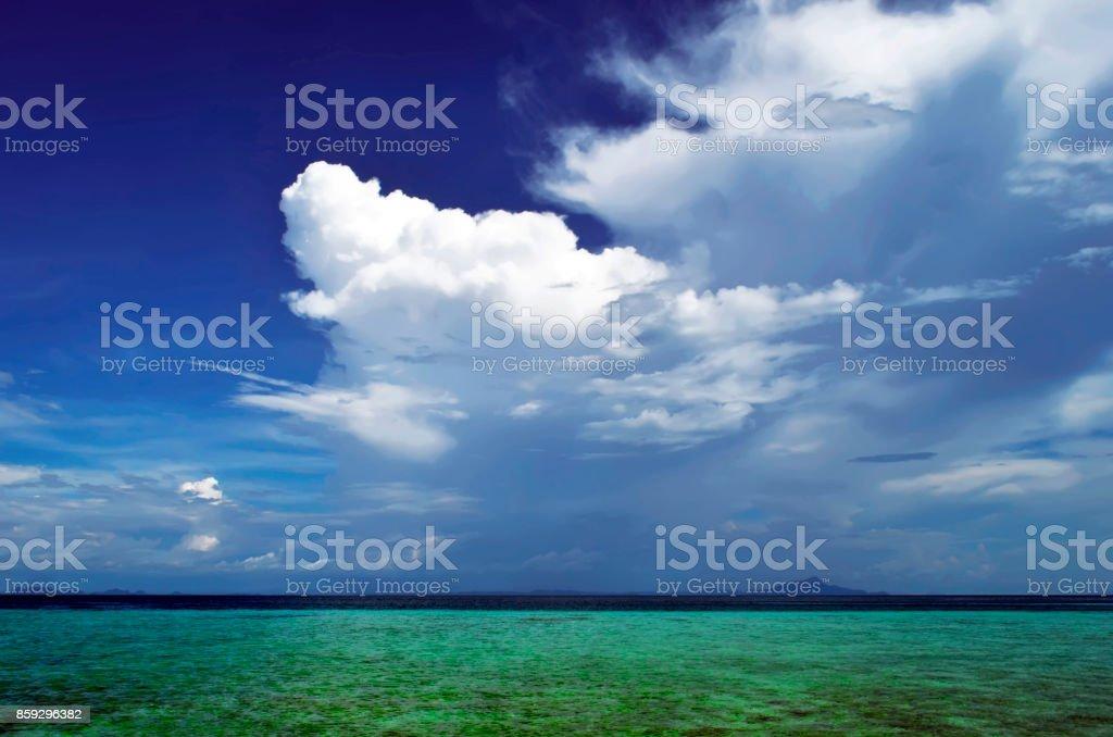 Cloudscape above the Andaman Sea at Tup island stock photo