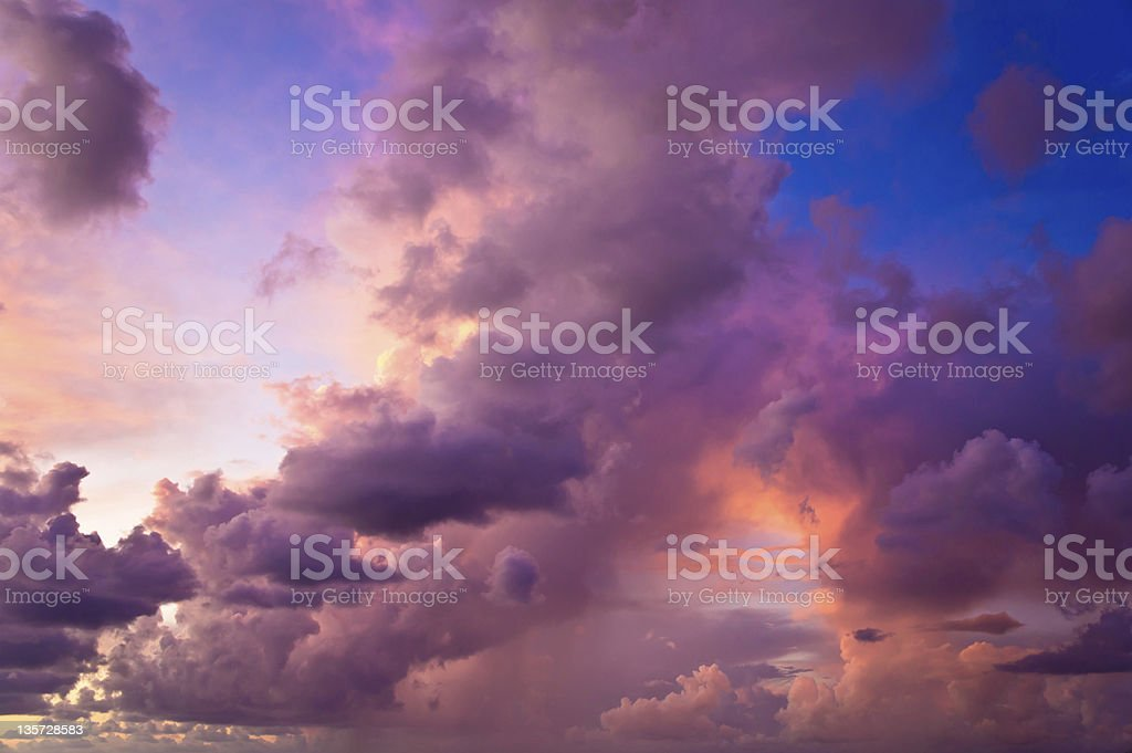 Cloudscape after the storm royalty-free stock photo