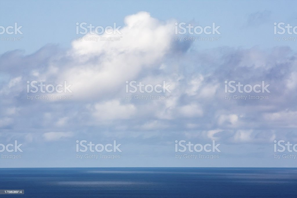 Cloudscape and sea reflection stock photo