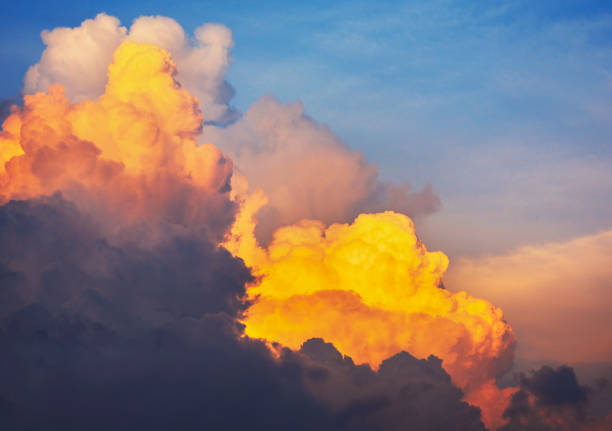 Cloudscape at evening stock photo