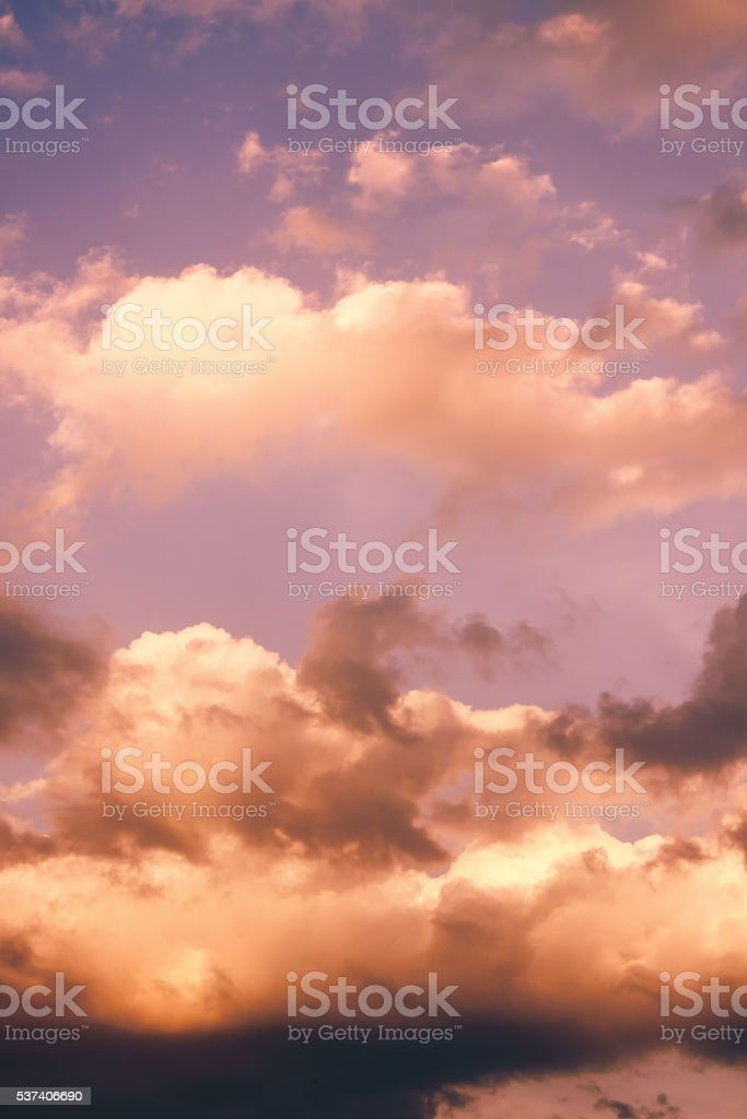 Cloudscape background stock photo