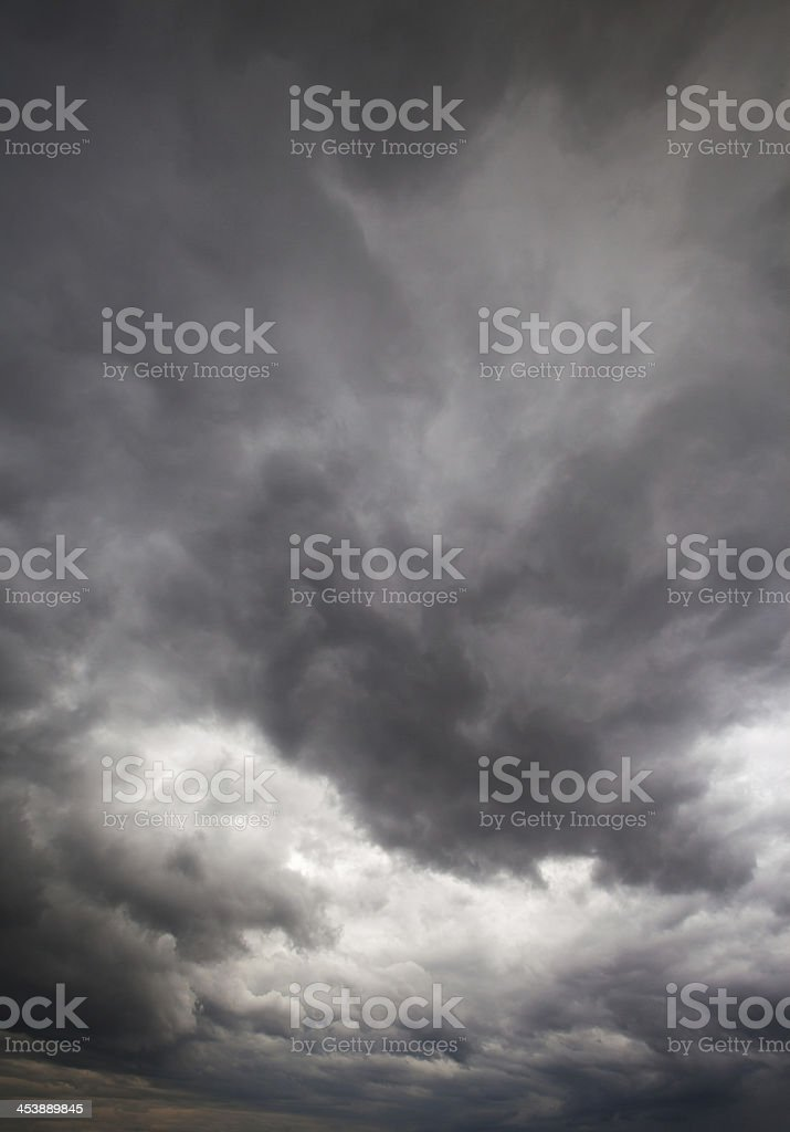 cloudscape before rainstorm royalty-free stock photo