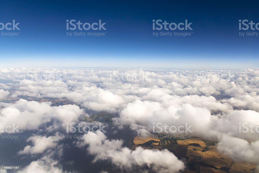 Cloudscape. Blue sky and white cloud. royalty-free stock photo
