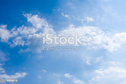 479184640istockphoto Cloudscape. Blue sky and white cloud. Sunny day. Cumulus clouds. 1179954616