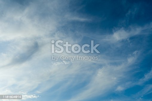 479184640istockphoto Cloudscape. Blue sky and white cloud. Sunny day. Cumulus clouds. 1181604914