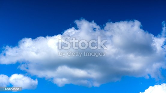 479184640istockphoto Cloudscape. Blue sky and white cloud. Sunny day. Cumulus clouds. 1183205851