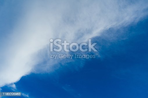 479184640 istock photo Cloudscape. Blue sky and white cloud. Sunny day. Cumulus clouds. 1183205983