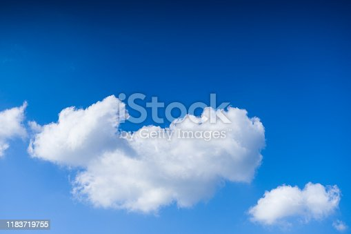 istock Cloudscape. Blue sky and white cloud. Sunny day. Cumulus clouds. 1183719755
