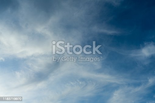 479184640istockphoto Cloudscape. Blue sky and white cloud. Sunny day. Cumulus clouds. 1183719970