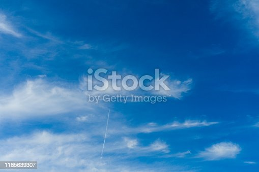 479184640istockphoto Cloudscape. Blue sky and white cloud. Sunny day. Cumulus clouds. 1185639307