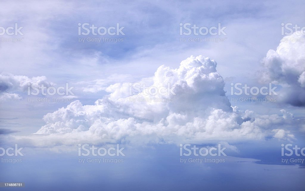 cloudscape from airplan royalty-free stock photo