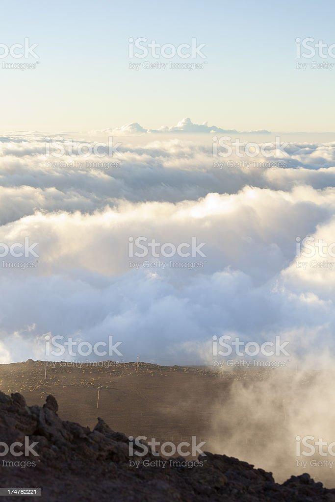 Cloudscape From Haleakala, Maui royalty-free stock photo