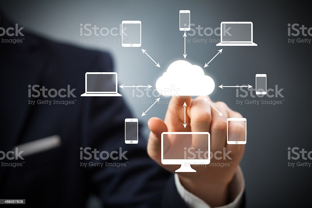 Cloudscape interface royalty-free stock photo