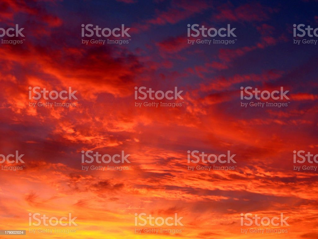 Cloudscape of Fire royalty-free stock photo