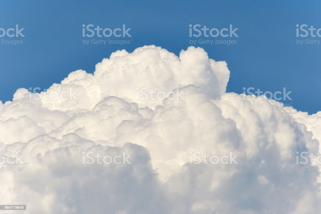 Cloudscape of Fluffy White Clouds royalty-free stock photo