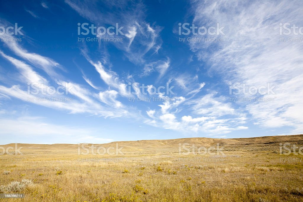 Cloudscape On Prairie stock photo