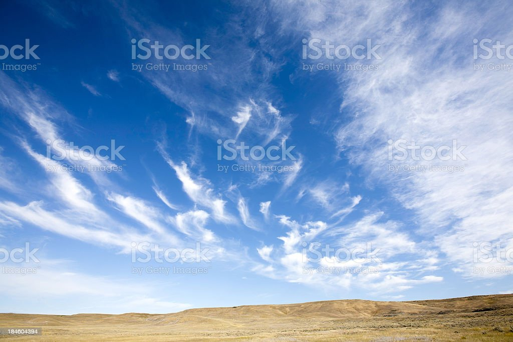 Cloudscape On Prairie royalty-free stock photo