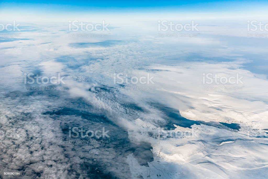 Cloudscape over Ice Fields stock photo