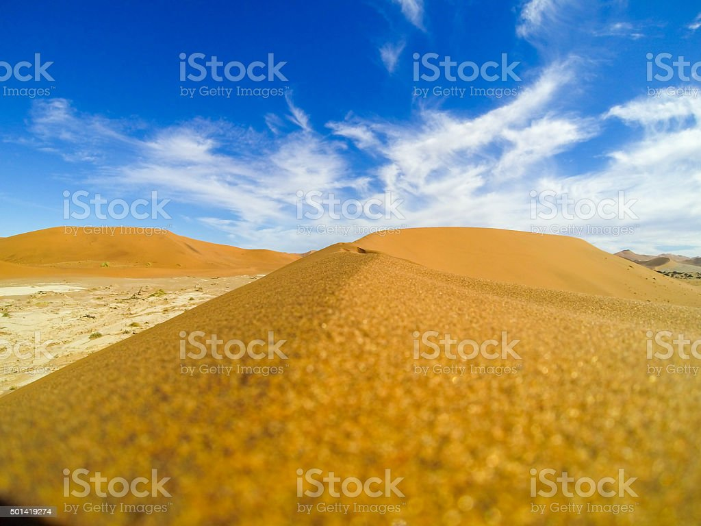 Cloudscape Over Sand Dunes stock photo