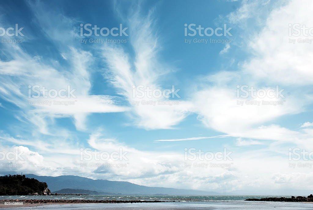 Cloudscape over Seascape stock photo