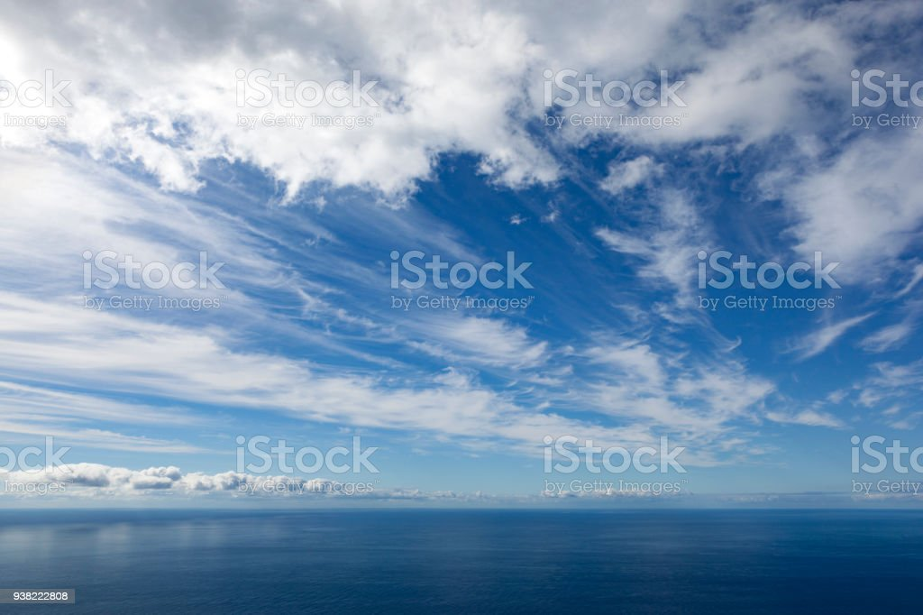 cloudscape over the atlantic ocean stock photo