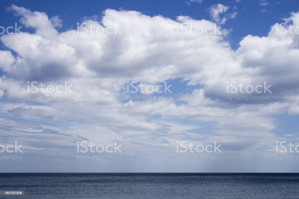 cloudscape over the sea royalty-free stock photo
