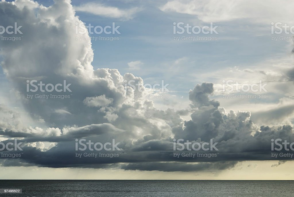 Cloudscape over water royalty-free stock photo