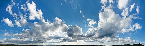 XXL Cloudscape Panorama stock photo
